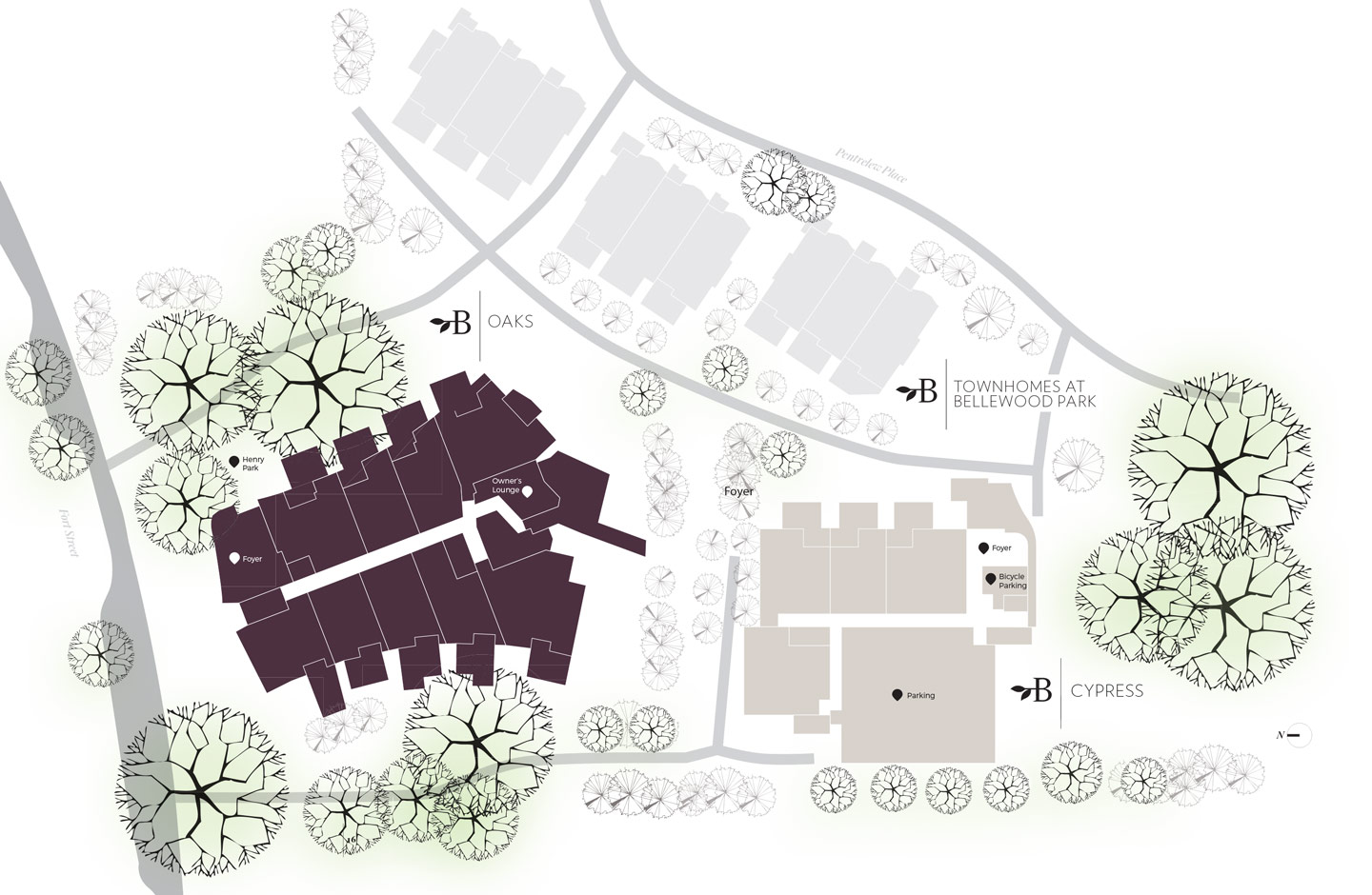 Bellewood Park Development Map